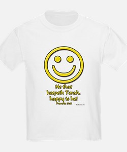 Happy Is He Who Keeps Torah Kids T-Shirt