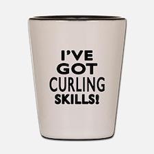 Curling Skills Designs Shot Glass