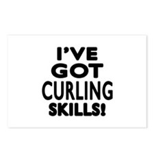 Curling Skills Designs Postcards (Package of 8)