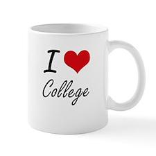 I Love College Artistic Design Mugs