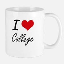I Love College Artistic Design Mugs
