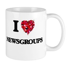 I Love Newsgroups Mugs