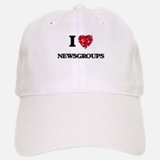 I Love Newsgroups Baseball Baseball Cap