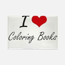 I love Coloring Books Artistic Design Magnets