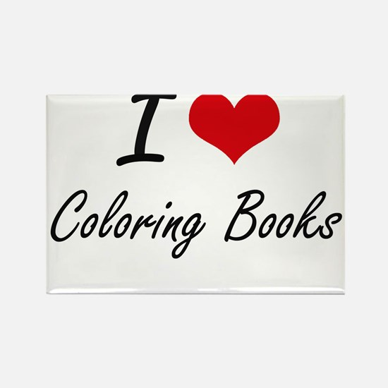 I love Coloring Books Artistic Design Magnets