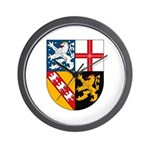 Saarland Coat of Arms Wall Clock