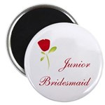 Red Junior Bridesmaid Magnet