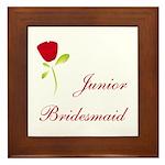 Red Junior Bridesmaid Framed Tile