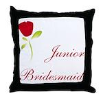 Red Junior Bridesmaid Throw Pillow