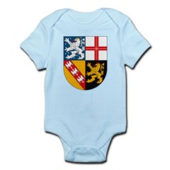 Saarland Coat of Arms Infant Creeper