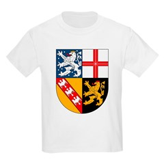 Saarland Coat of Arms Kids T-Shirt