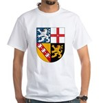 Saarland Coat of Arms White T-Shirt