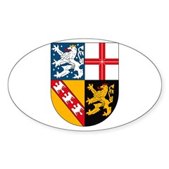 Saarland Coat of Arms Oval Decal