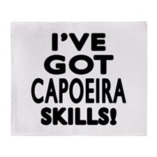 Capoeira Skills Designs Throw Blanket