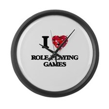 I Love Role-Playing Games Large Wall Clock