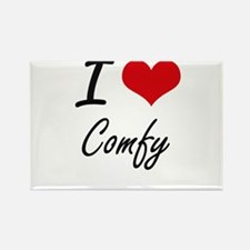 I love Comfy Artistic Design Magnets