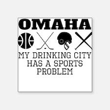 Omaha Drinking City Sports Problem Sticker