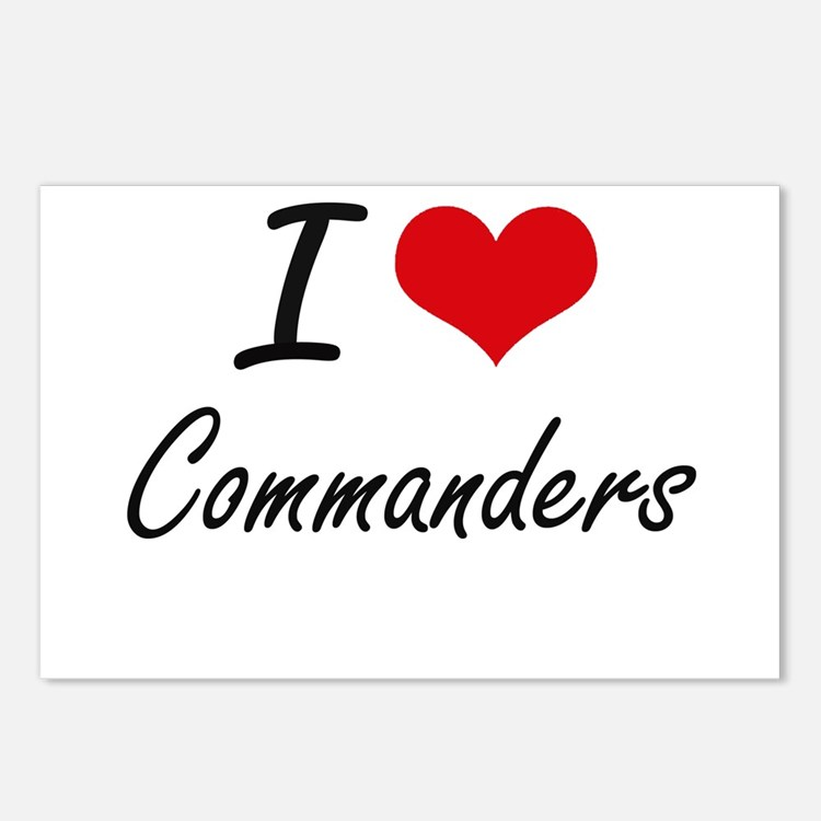 I love Commanders Artisti Postcards (Package of 8)