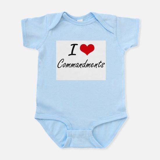 I love Commandments Artistic Design Body Suit