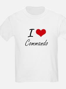 I love Commando Artistic Design T-Shirt