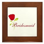 Red Bridesmaid Framed Tile