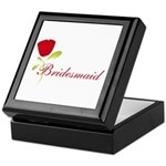 Red Bridesmaid Keepsake Box