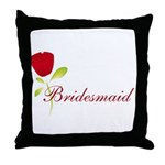 Red Bridesmaid Throw Pillow