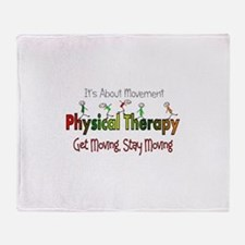 Physical therapy 5 sticks GREEN ORAN Throw Blanket