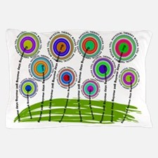 Physical Therapist Whimsical Flowers Pillow Case