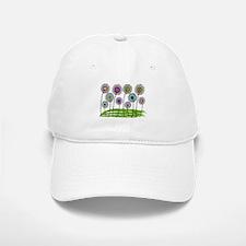 Physical Therapist Whimsical Flowers Baseball Baseball Cap
