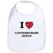 I Love Contemporary Dance Bib