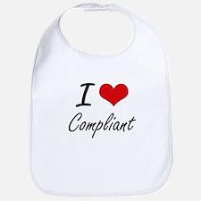 I love Compliant Artistic Design Bib