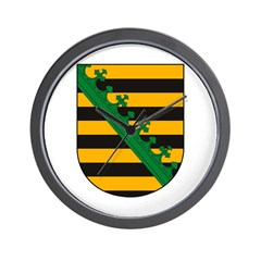 Sachsen Coat of Arms Wall Clock