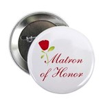 Red Matron of Honor Button