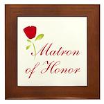 Red Matron of Honor Framed Tile
