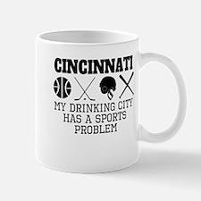 Cincinnati Drinking City Sports Problem Mugs