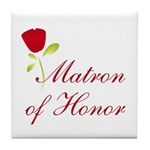 Red Matron of Honor Tile Coaster