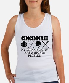 Cincinnati Drinking City Sports Problem Tank Top
