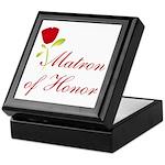 Red Matron of Honor Keepsake Box
