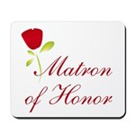 Red Matron of Honor Mousepad