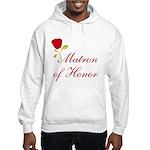 Red Matron of Honor Hooded Sweatshirt