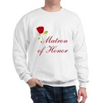 Red Matron of Honor Sweatshirt