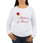 Red Matron of Honor Women's Long Sleeve T-Shirt
