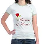Red Matron of Honor Jr. Ringer T-Shirt