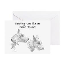 Nothing runs like an Ibizan Hound! Greeting Cards