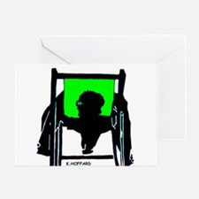 Siesta Green Design Greeting Card