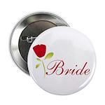 Red Bride Button