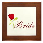 Red Bride Framed Tile