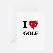 I Love Golf Greeting Cards