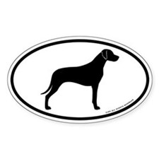Rhodesian Ridgeback Oval Decal